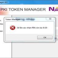 Hướng dẫn thực hiện reset mã pin token, lấy lại mã pin